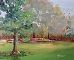 Oil Painting of Reflecting Pool at Eden Gardens State Park