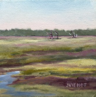 Oil painting of the marsh on Sea Island, GA,