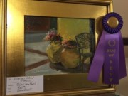 Photo of People's Choice Best in Show painting at 2015 Local Color Plein Air Festival, Lynn Haven, FL