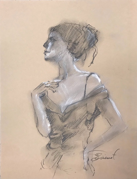 Sketch of Abigail as Madame X