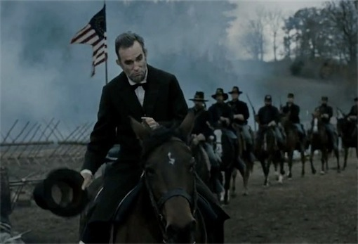 Lincoln visita um local de batalha