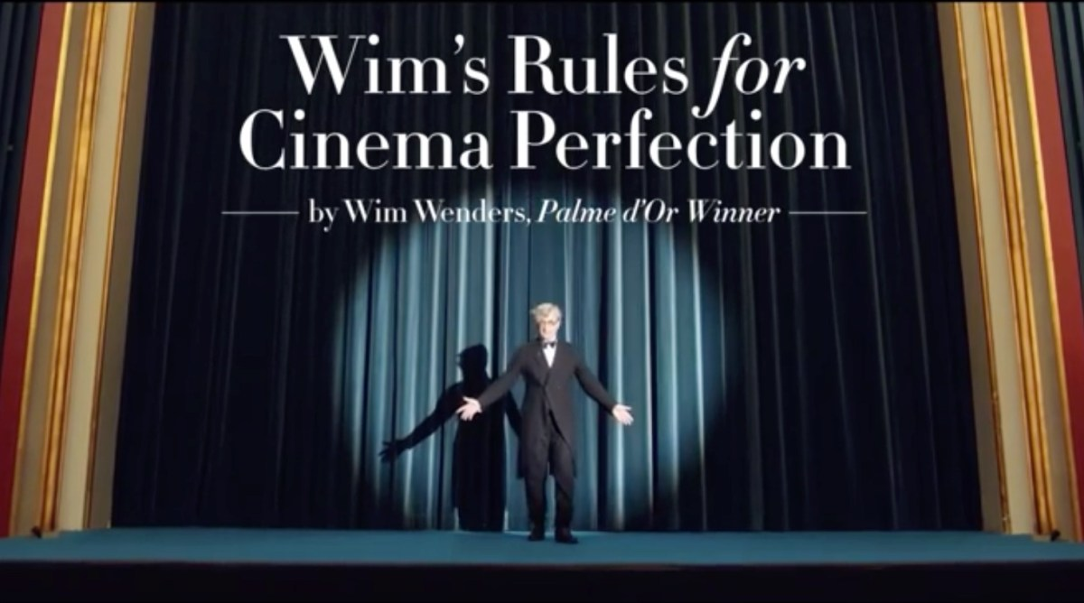 As regras do cinema segundo Wim Wenders - Take 2
