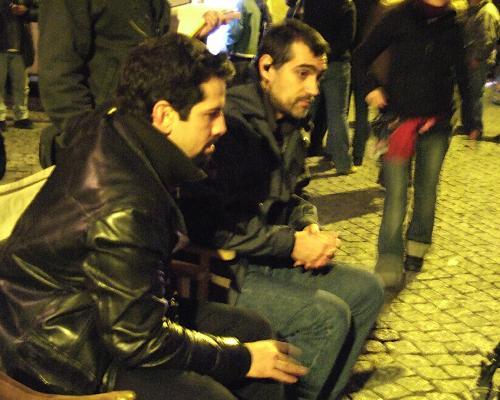 O realizador e o director de fotografia