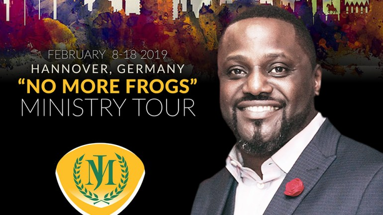 "FEBRUARY 2019 – HANNOVER, GERMANY ""No More Frogs"" MINISTRY TOUR"