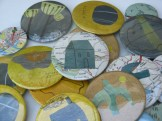 assorted badges, seedheads and pebbles; © Jo Aylward & Podpress
