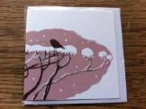 Bird on hedge Christmas card, © Podpress