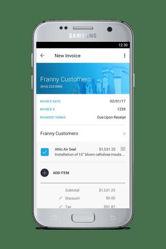 jobflex invoice for plumbers