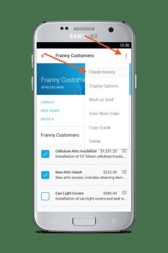 turn estimates to invoices with JobFLEX