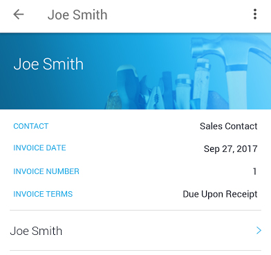 Invoice payment terms on JobFLEX