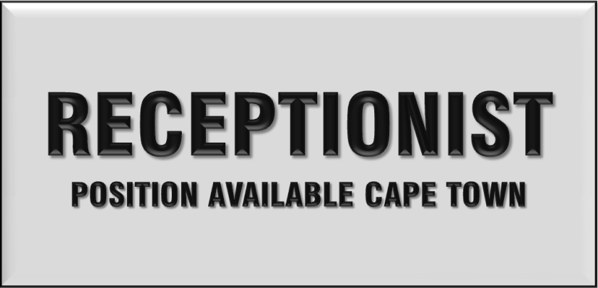 RECEPTIONIST MEDICAL WESTERN CAPE
