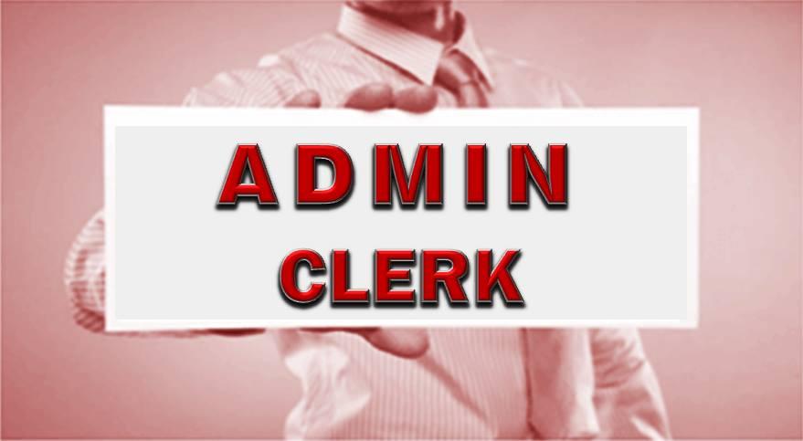 POST: ADMIN CLERK