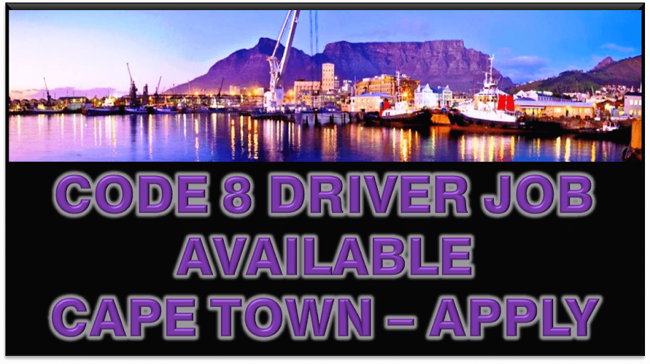 CODE 08 DRIVER JOB AVAILABLE