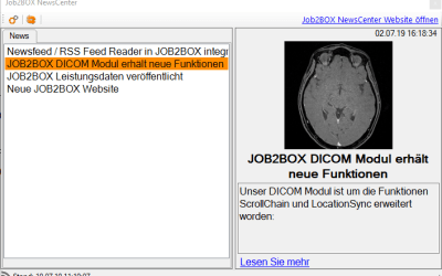 Newsfeed / RSS Feed Reader in JOB2BOX integriert
