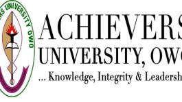 Achievers University Post UTME / DE Form 2021/2022 and Screening Date