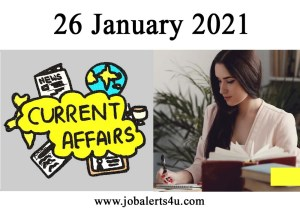 26 January Current Affairs