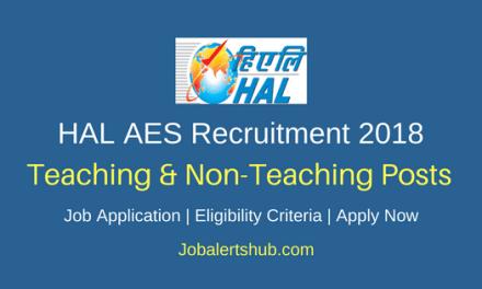 HAL Aeronautics Education Society Recruitment 2018 Teaching & Non-Teaching Jobs – 19 Vacancies   Bachelor Degree, Master Degree & Ph.D   Apply Now