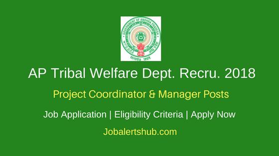 AP Tribal Welfare Dept. 2018 Project Coordinator & Manager Posts – 04 Vacancies | PG | Apply Now