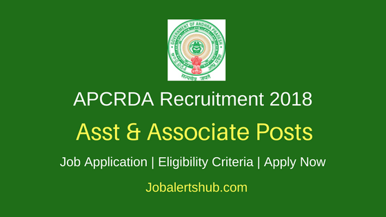 APCRDA 2018 Asst & Associate & Sr Planner Posts – 07 Vacancies | Degree, PG | Apply Now