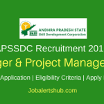 APSSDC 2018 Manager & Project Manager Posts | Degree/ PG | Apply Now