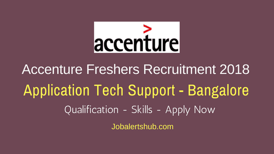 Accenture Application Tech Support Freshers Jobs 2018   B.Tech   Bangalore   Apply Now