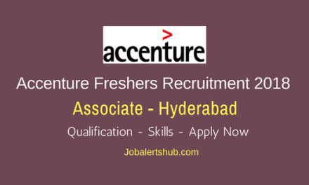 Accenture Associate Freshers Jobs 2018 | Degree/PG | Hyderabad | Apply Now