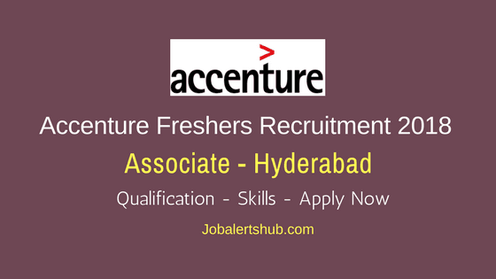 Accenture Associate Voice Process Freshers Jobs 2018 | Graduation | Hyderabad | Apply Now