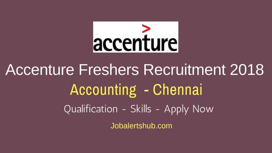 Accenture Recruitment 2018   Accounting   UG/PG   Chennai   Apply Now