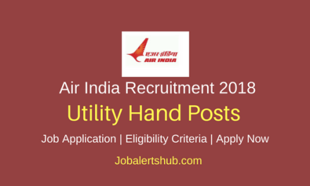 Air India 2018 Utility Hand Posts – 60 Vacancies   8th Class   Apply Now