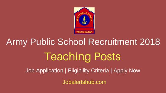Army Public School, RK Puram, Secunderabad 2018 PGT, TGT, PRT & Other Jobs | Degree, Master Degree | Apply Now