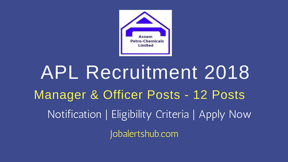 Assam Petrochemicals Ltd Recruitment 2018 | Manager, Asst Manager, Asst Technician Trainee, Safety Officer – 12 Posts | Diploma, Any Degree, PG | Apply Now @ assampetrochemicals.co.in