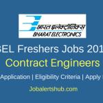 BEL Jobs 2018 Bangalore Contract Engineer – 30 Vacancies | B.Tech | Apply Now