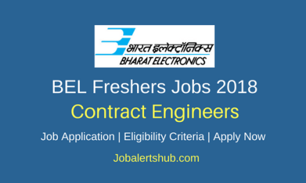 Bharat Electronics Limited (BEL) 2018 Recruitment Contract Engineer Posts – 480 Vacancies | B.E/B.Tech | Apply Now