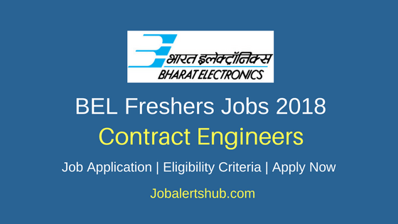 BEL Jobs 2018 Bangalore Contract Engineer – 30 Vacancies | B.Tech | Apply Now