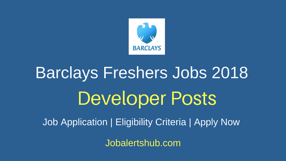 Barclays Pune Freshers Junior Developer Jobs 2018 | Graduation/PG | Apply Now