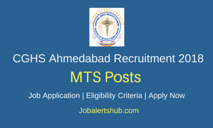 CGHS Ahmedabad 2018 Medical Attendant & Lady Medical Attendant Posts – 128 Vacancies   10th + Certification   Apply Now