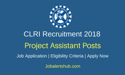 Central Leather Research Institute 2018 Project Assistant II & III Posts – 03 Vacancies | BE/ B.Tech, PG | Apply Now