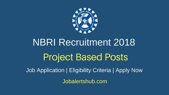 CSIR-National Botanical Research Institute (NBRI) 2018 JRF/ Project Asst Level II & PA I Recruitment   B.Sc/M.Sc   Walkin