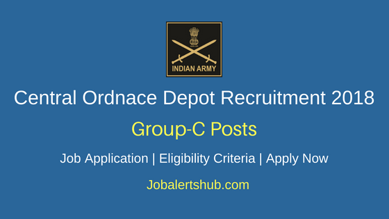 Central Ordnace Depot Delhi 2018 Fireman, Material Assistant, CMD, Cook, Steno & Other Jobs – 13 Posts | 10th, 12th, Degree | Apply Now