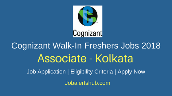 Cognizant Walk-In Freshers Associate 2018 Vacancies| Kolkata | Degree/PG | Walk-In: 2nd March'18