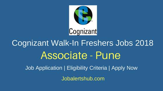 Cognizant Freshers Associate 2018 Vacancies | Graduation/PG | Pune | Walk-In: 16th Mar 2018