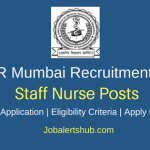DMER Mumbai 2018 Staff Nurse Posts – 528 Vacancies | GNM | Apply Now