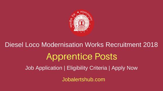 Diesel Loco Modernisation Works Recruitment 2018 Apprentice Posts – 140 Vacancies | 12th + ITI | Apply Now
