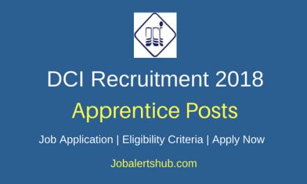 Dredging Corporation Of India (DCI) 2018 Recruitment Graduate/ Technician Apprentice Posts – 20 Vacancies   Diploma, B.Tech   Apply Now