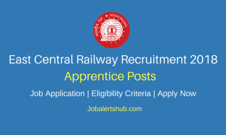East Central Railway Apprentice Jobs 2018 – 1898 Vacancies   10th/12th + ITI   Apply Now