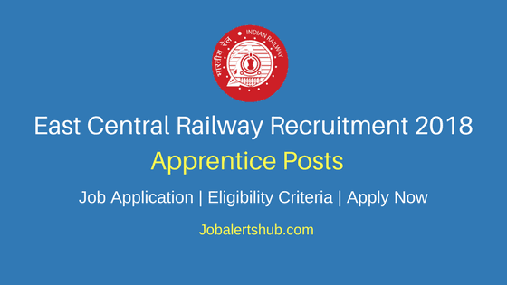East Central Railway Apprentice Jobs 2018 – 1898 Vacancies | 10th/12th + ITI | Apply Now