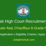 Gauhati High Court 2018 Computer Asst, Chauffeur & Grade IV Posts – 17 Vacancies | 8th Class, Any Degree | Apply Now