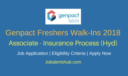 Genpact Associate – Insurance Process Freshers Jobs 2018 | Graduation | Hyderabad | Apply Now