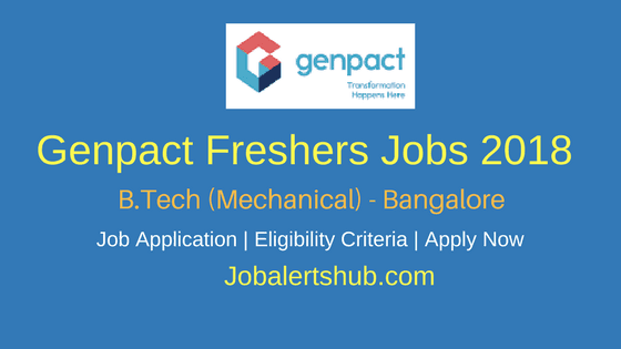 Genpact Recruitment 2018| Associate | B.Tech Mechanical | Bangalore| Apply Now