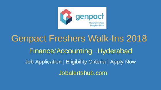 Genpact Recruitment 2018 | Finance/Accounting/ Procurement Posts | Graduation | Hyderabad | Apply Now