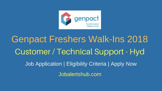Genpact Customer / Technical Freshers Jobs 2018 | Graduation | Hyderabad | Walkin: 5th March – 9th March'18